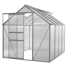 Ogrow WALK-IN 6' x 8' Lawn & Garden Greenhouse with Heavy Duty Frame
