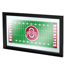 Ohio State Framed Football Field Mirror