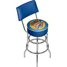 Oklahoma City Thunder Padded Swivel Bar Stool with Back