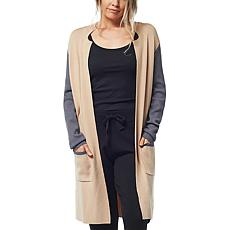 Olive and Vine Colorblock Long Cardigan