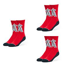 Optimum Fulfillment Los Angeles Angels MLB 3-Pack Arena Crew Socks