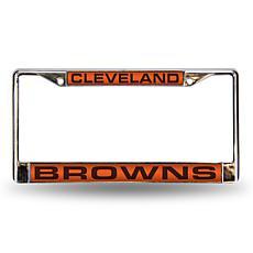 Orange Chrome License Plate Frame - Cleveland Browns