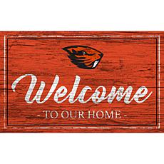 """Oregon State University Team Color Welcome Sign - 11x19"""""""