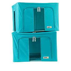 OrganizeMe Medium Collapsible Storage Bins 2-pack