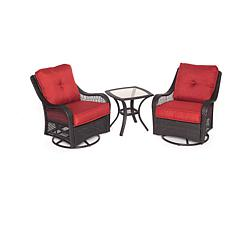 Orleans 3pc Swivel Rocking Chat Set - Autumn Berry