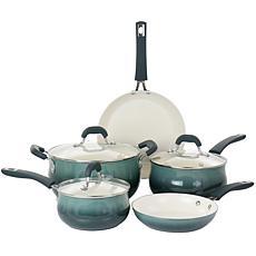 Oster Corbett 8-Pc Nonstick Aluminum Cookware Set Blue