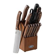 Oster Pure Steel 14-piece Cutlery Set with Rubberwood Block