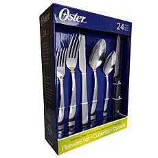 Oster Wellisford 24 Piece Mirror Polished Flatware Set