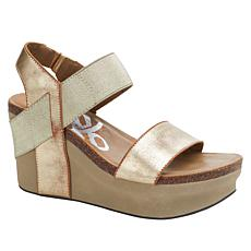OTBT Bushnell Leather Iconic Wedge Platform Sandal