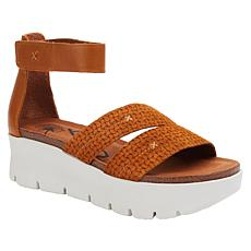 OTBT Travel Lite® Montauk Leather Wedge Sandal
