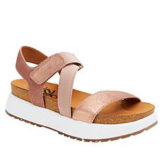 OTBT Travel Lite® Sierra Leather Flatform Sandal