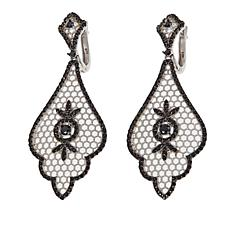 "Ottoman Silver Jewelry 2.54ctw Black Spinel ""Sultan"" Drop Earrings"