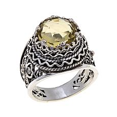Ottoman Silver Jewelry 3.5ct Lemon Quartz Ring