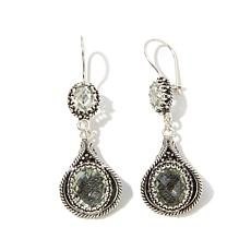Ottoman Silver Jewelry 9.30ctw Prasiolite Drop Earrings