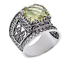 Ottoman Silver Jewelry Collection 3.5ct Lemon Quartz Filigree Ring