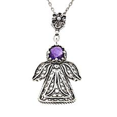 Ottoman Silver Jewelry Collection Angel Filigree Gemstone Pendant