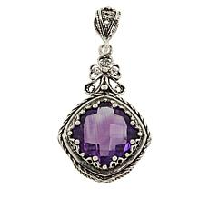 Ottoman Silver Jewelry Collection Cushion-Cut Amethyst Pendant