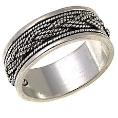 Ottoman Silver Jewelry Collection Woven Spinner Band Ring