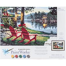 "Paint Works Paint By Number Kit 20"" x 14"" - Adirondack Evening"