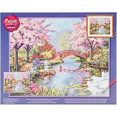 """Paint Works Paint By Number Kit 20"""" X 16"""" Japanese Garden"""