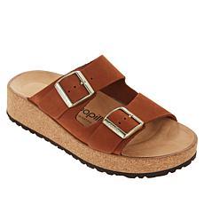 Papillio by Birkenstock Glenda Leather Wedge Slide Sandal