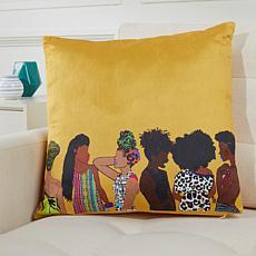 "Pardon My Fro Squad 18"" x 18"" Decorative Pillow"