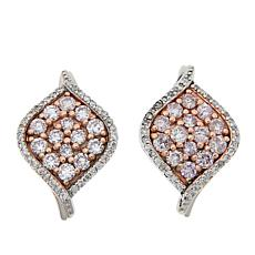 Passport to Gems 14K .68ctw Pink and White Diamond Earrings