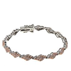 Passport to Gems 14K Pink and White Diamond Line Bracelet