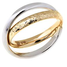 Passport to Gold 14K 2-tone Crossover Ring