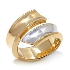 Passport to Gold 14K 2-Tone Gold Bypass Ring
