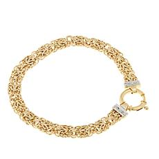 Passport to Gold 14K Byzantine Diamond-Accent Bracelet