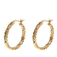 Passport to Gold 14K Byzantine Hoop Earrings