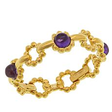 Passport to Gold 14K Gold Gemstone Scalloped Station Stackable Ring