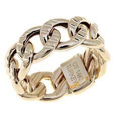 Passport to Gold 14K Gold Textured Curb-Link Ring