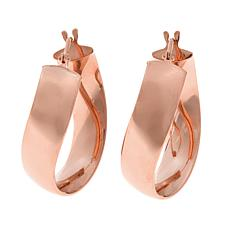 Passport to Gold 14K Rose Gold Curved Hoop Earrings