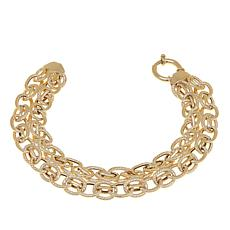 "Passport to Gold 14K Textured Woven Link 8"" Bracelet"