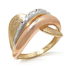 "Passport to Gold 14K Tri-Tone ""Wave"" Ring"