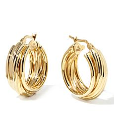 "Passport to Gold 14K ""Wrapped"" Texture Hoop Earrings"