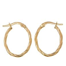Passport to Gold 14K Yellow Gold Oval Twisted-Hoop Earrings