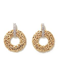 Passport to Gold Diamond-Accented Byzantine Earrings