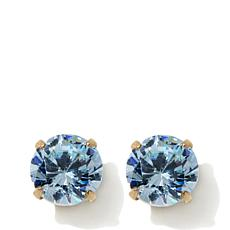 Passport to Gold Kids 14K CZ Aquamarine-Color Earring
