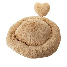 Patricia Altschul Large Pet Bed with Heart Pillow