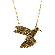 "Patricia Nash 30"" Hummingbird Drop Necklace"