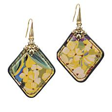 Patricia Nash Abella Floret  Reversible Leather Drop Earrings