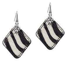 Patricia Nash Abella Floret  Reversible Leather Drop Earrings