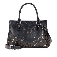 Patricia Nash Angela Laser-Cut Leather Satchel