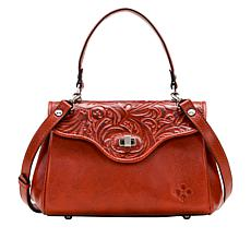Patricia Nash Ardesia Leather Frame Satchel
