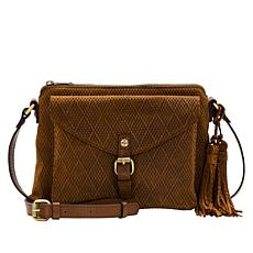 Patricia Nash Avellino Diamond Textured Leather Crossbody Bag