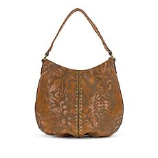 Patricia Nash Bello Laser Floral Leather Hobo