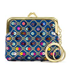 Patricia Nash Borse Print Leather Coin Purse with Sequins